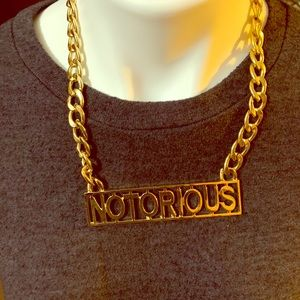 Jewelry - Notorious Hip hop necklace